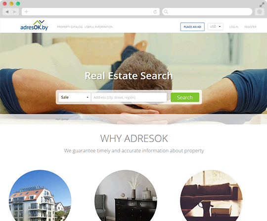 Adresok - Real Estate Web Service