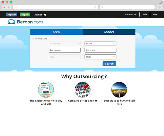 Beroon - Car Selling Website