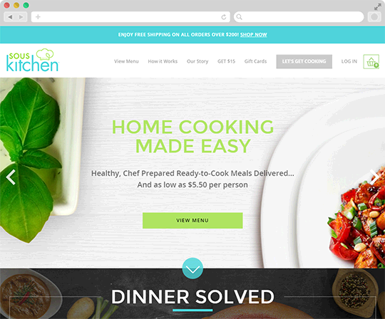 Sous Kitchen web development